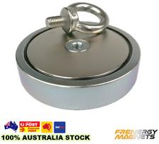1x D75mm M10 (200kg) Heavy Duty Neodymium Treasure Fishing Salvage Pot Magnet
