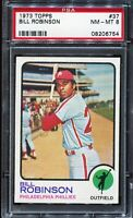 1973 Topps Baseball #37 BILL ROBINSON Philadelphia Phillies PSA 8 NM-MT