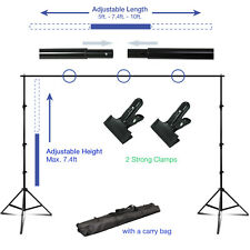 Lusana Studio Photography Muslin Backdrop Support Stand Clamps Carrying Bag