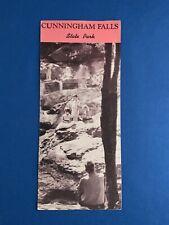 Cunningham Falls State Park In Maryland.. Vintage Brochure