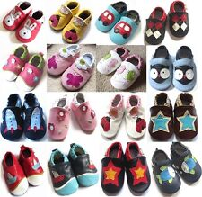 Boy Girl Multi Designs Leather Soft Sole Baby Infant Shoes Shower Gift Size 0-2Y