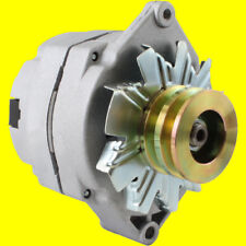 New Alternator Tractor & Chevy 10SI 1-Wire One Wire 2 Groove Pulley 63 Amp 12 V