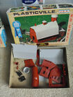 Vintage 1970s HO Scale Plasticville Barn with Silo Kit in Box 2602-100
