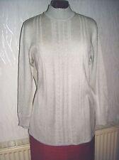 cavita Damen Feinstrick-Seiden-Pullover Gr. M grau  Seide/5% Cashmir/10% Acryl