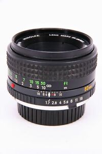 MINOLTA 50mm f/1.7 MC lens with fault Professionally checked
