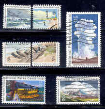 Parks National # 1448-54 Centennial Stamps Used