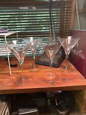 Luigi Bormioli Crystal Matching martini glasses set of 4