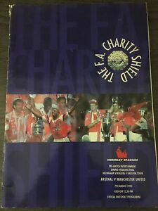 Arsenal V Manchester United Charity Shield 1993