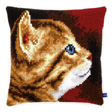MOUTONS-Gros Trous Imprimé Tapisserie Toile Coussin Kit Chunky Cross stitch