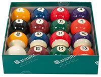 Aramith Spots and Stripes American 2 1/4 Inch Premier Pool Balls Set - New, Free