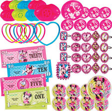 Minnie Mouse Party Supplies Favours VALUE FAVOUR PACK 48 PC Genuine Licensed