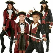 Deluxe Pirate Swashbuckler Family Couples Kids Adults Fancy Dress Pirates Outfit
