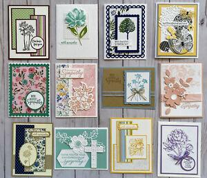12 Handmade Sympathy Condolences  greeting cards envelopes Stampin' Up! +