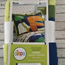 New Circo Dino Friends Standard Pillow Sham Cotton Dinosaur Sham