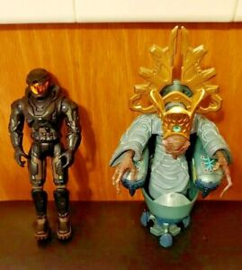 HALO Master Chief 2003 & HALO 2 Prophet of MERCY RARE Figures Lot of 2 Bungie