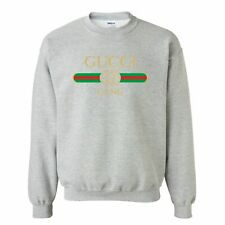 "Mens Lil Pump Song Gucci Gang Sweatshirt Sports Grey Size Small 34""-36"" Chest"