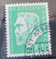 BRD Bund Briefmarken 1955 Mi.209 Oskar Miller Gestempelt