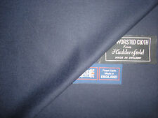 SUPER 120's WOOL WORSTED FLANNEL SUITING FABRIC MADE IN ENGLAND = 3.4 m