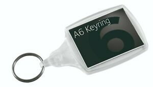 Photo Insert Key Rings - A6 clear acrylic fobs made in the UK 45x32mm inserts