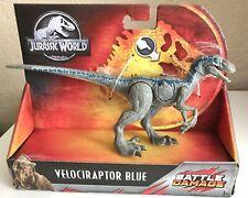 New ListingJurassic World Battle Damage Velociraptor Blue Dinosaur Action Figure Raptor Toy