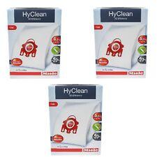3 Packs Genuine Miele FJM Hyclean Cat & Dog C1 C2 Vacuum Dust Hoover Bag 12 Bags