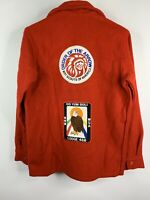 Vintage 70's  BSA Boy Scouts America Red Wool Jacket Order of the Arrow Size 18