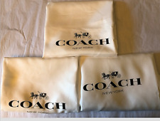 🌺🌹 3 New COACH Satin Dust Bag Cover  23''x19''