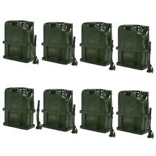 8x 5 Gallon Jerry Can Fuel Steel Tank 20L Storage Emergency Backup w/ Holder