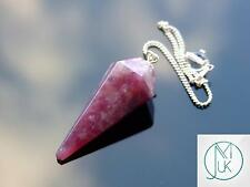 Lepidolite Gemstone Point Pendulum Dowsing Crystal Dowser Reiki Chakra Healing