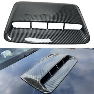 Glossy Black Car Decoration Air Flow Intake Hood Scoop Vent Bonnet Cover w/Tape