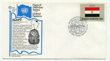United Nations #361 Flag Series, Egypt, Aristocrat Cachets,  FDC