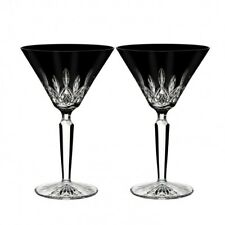 Waterford Lismore Black Martini Pair New # 40026284 Lismore Black Collection