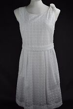 NWT $595 Burberry Brit Mollorie White Dress sz US 10, EUR 44