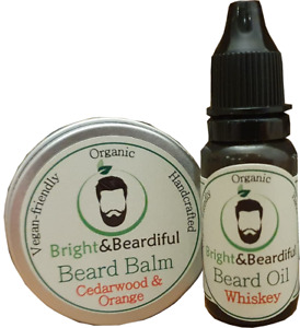 Beard Balm & Oil Set. Organic, Vegan, Growth Kit, Conditioning, Styling, Taming