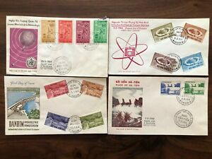 4 X VIETNAM OLD COVER COLLECTION LOT FDC SAIGON 1964 !!