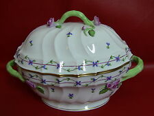 Herend China Blue Garland Tureen & Lid with Rose