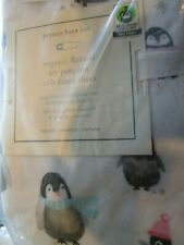 Pottery Barn baby kids  Flannel Fitted Crib Sheet icy Penguin New