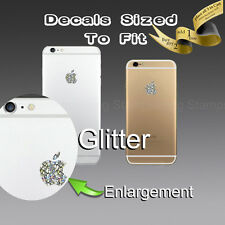 ( 4x ) Apple Logo Glitter Sticker Decal for iPhone 6s 6s+ 6 6+ 6 plus 7 7plus