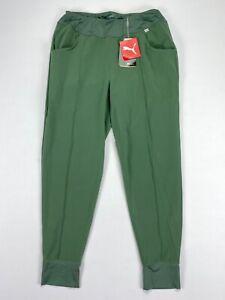 Puma Jogger Pants Black Thyme Green Womens SZ Small ( 597722 )