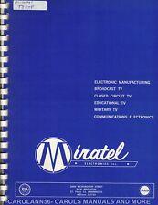 MIRATEL Manual T8RTP TELEVISION MONITOR