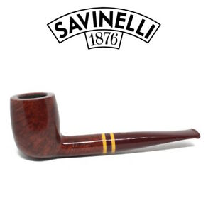 Neuf Savinelli - Régimentaire - Lisse - 128 - 6mm Filtre Pipe