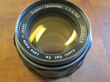 Vintage Pentax Super-Takumar 1:1.4 50mm Film Camera Prime Lens