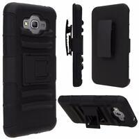 For Samsung Smart Phones Case Cover Shockproof Armor Box Belt Clip Holster Black