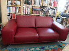 Canapé cuir rouge ROCHE & BOBOIS