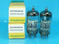 AMPEREX WHITE LABEL 6DJ8 ECC88 VACUUM TUBE SUPER SWEET CURVE TRACER MATCH PAIR