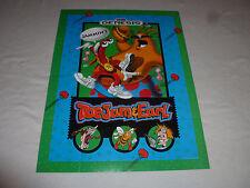Vintage Sega Genesis Toe Jam & Earl Game Promo Poster 1991 17 X 22 Toejam