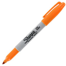 Sharpie Permanent Marker, Durable Fine Point, Tangerine, Each