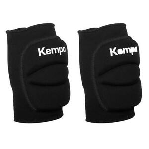 Kempa Padded Knee Support Indoor Sport Protector - Pair Black Large