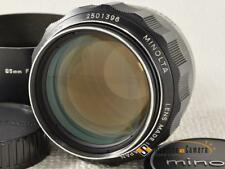 MINOLTA MC ROKKOR PF 85mm F1.7 [EXCELLENT] from Japan (10544)