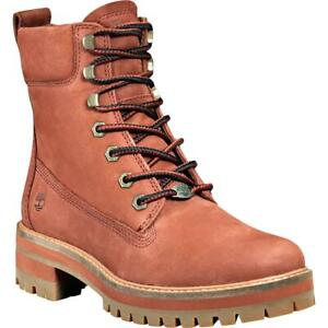 Timberland Womens Brown Leather Lace-Up Boot Shoes 6 Medium (B,M) BHFO 2270